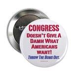"Congress Doesn't Give A Damn 2.25"" Button (10"