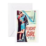 "Greeting (10)-""Flight Girl"""