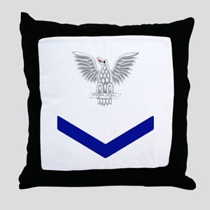 PO3 Blue Throw Pillow