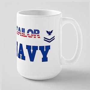 PO 2nd Blue Large Mug