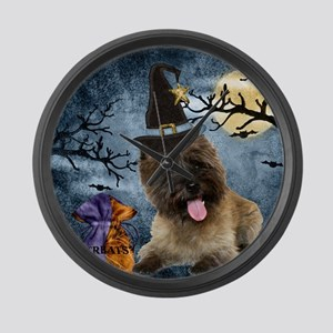 Cairn Terrier Witch Large Wall Clock