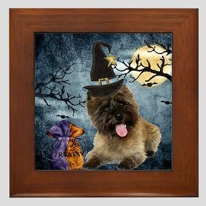 Cairn Terrier Witch Framed Tile