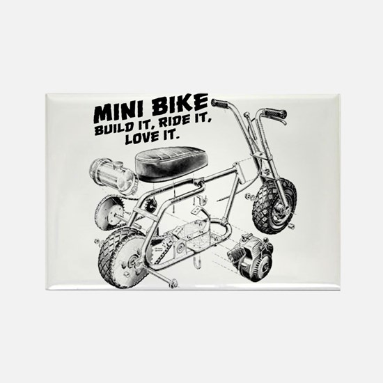 Minibike Love it Rectangle Magnet