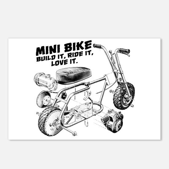 Minibike Love it Postcards (Package of 8)