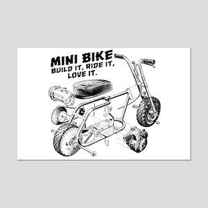 Minibike Love it Mini Poster Print