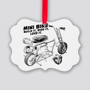 Minibike Love it Picture Ornament