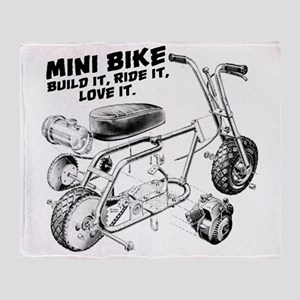 Minibike Love it Throw Blanket
