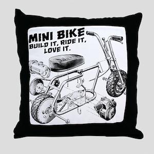 Minibike Love it Throw Pillow