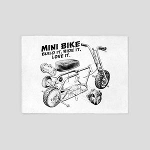 Minibike Love it 5'x7'Area Rug