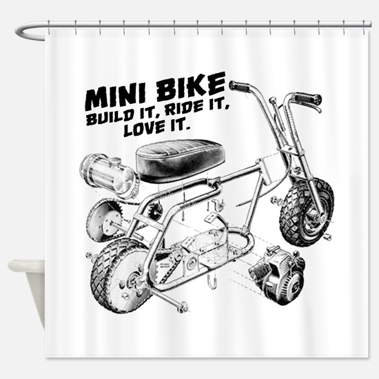 Minibike Love it Shower Curtain