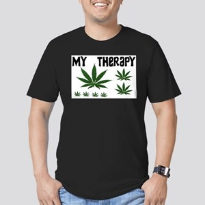 MY THERAPY Men's Fitted T-Shirt (dark)