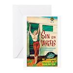 "Greeting (10)-""Sin On Wheels"""