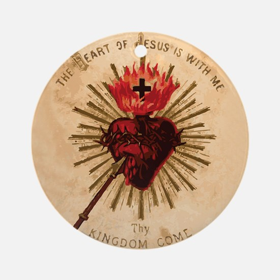 Sacred Heart of Jesus Ornament (Round)