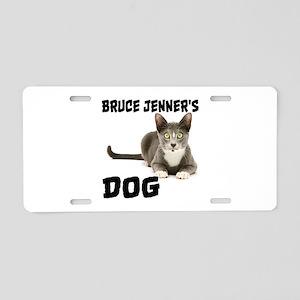 Bruce Jenner's Dog Aluminum License Plate
