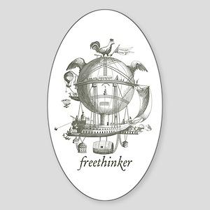 Freethinker Oval Sticker