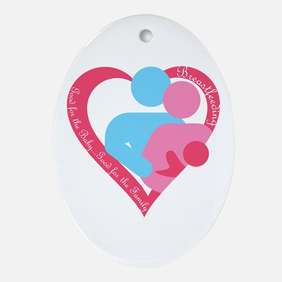 Good for the Family Ornament (Oval)