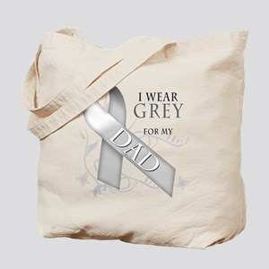 I Wear Grey for my Dad Tote Bag
