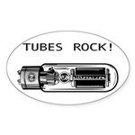 Tubes Rock Oval Sticker