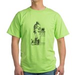 contemplative skeleton Green T-Shirt