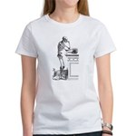 contemplative skeleton Women's T-Shirt