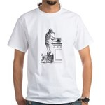 contemplative skeleton White T-Shirt