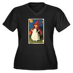 little witch Women's Plus Size V-Neck Dark T-Shirt