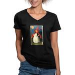little witch Women's V-Neck Dark T-Shirt