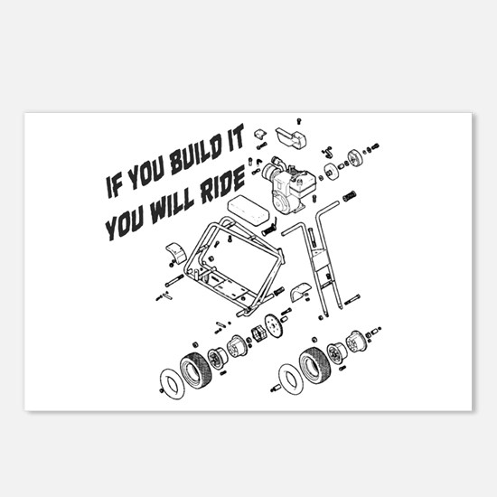 Minibike Build It Postcards (Package of 8)