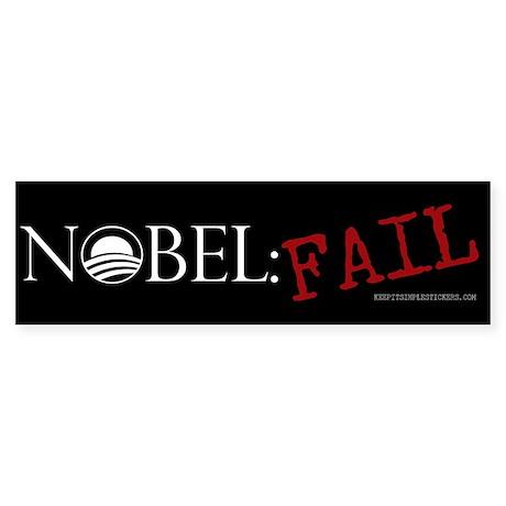 Nobel: Fail - Anti Obama Bump Bumper Sticker