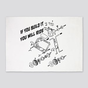 Minibike Build It 5'x7'Area Rug