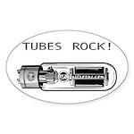 Tubes Rock Oval Sticker