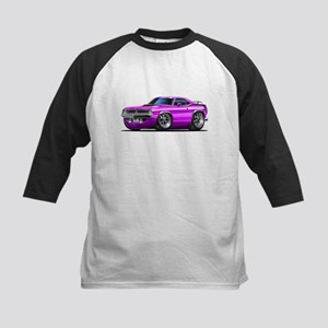 1970 Cuda Purple Car Kids Baseball Jersey