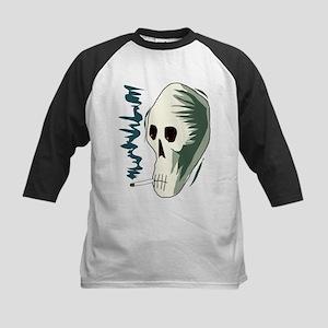 Smoking skull Kids Baseball Jersey