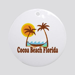 Cocoa Beach FL Ornament (Round)