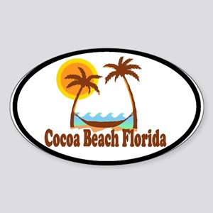 Folly Beach SC Oval Sticker