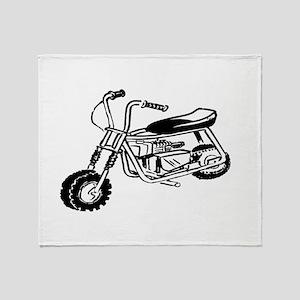 Minibike Throw Blanket