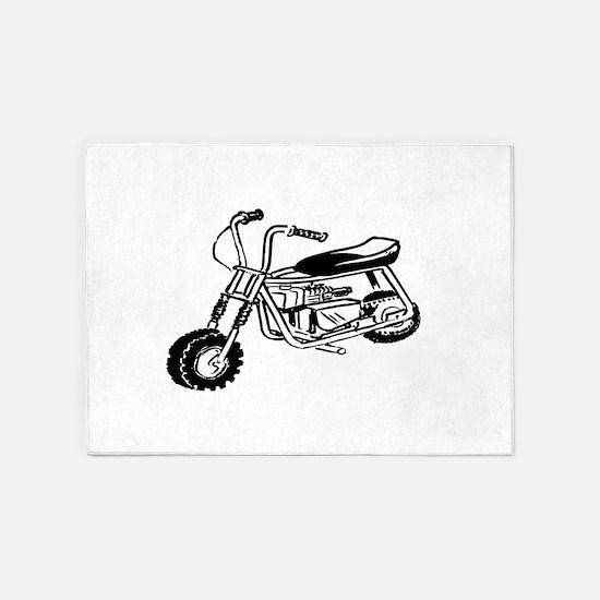 Minibike 5'x7'Area Rug