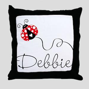 Ladybug Debbie Throw Pillow