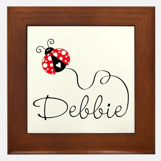 Ladybug Debbie Framed Tile