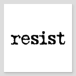 "Resist Square Car Magnet 3"" X 3"""