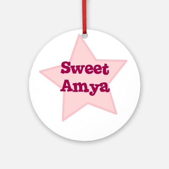 Sweet Amya Ornament (Round)