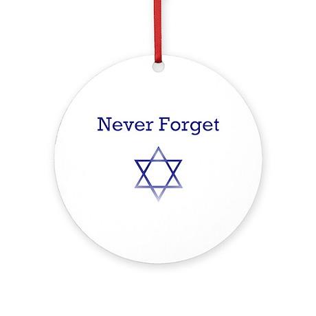 Holocaust Remembrance Hanukkah Ornament (Round)