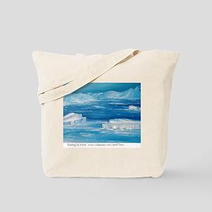floating icebergs Tote Bag