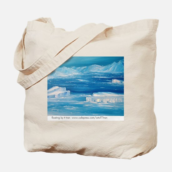 floating icebergs Tote Bag
