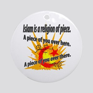 Islam is a Religion of Piece Round Ornament