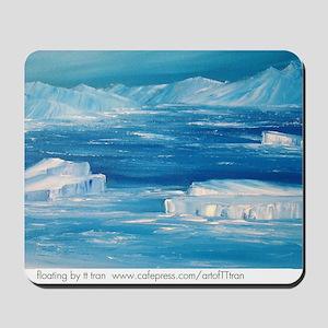 floating icebergs Mousepad