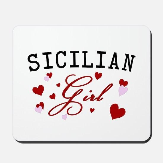 Sicilian Girl Hearts Mousepad