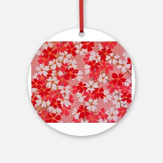 Red Blossom Ornament (Round)