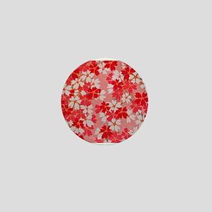 Red Blossom Mini Button