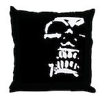 Morbid Skull Throw Pillow